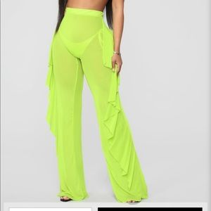 Fashion nova neon green cover up